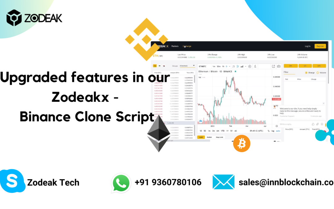 Upgraded features in our Zodeakx – Binance Clone Script