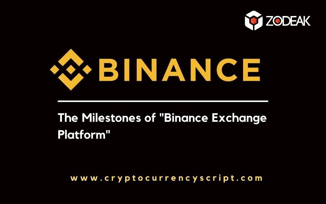 The Milestones of Binance Exchange Platform