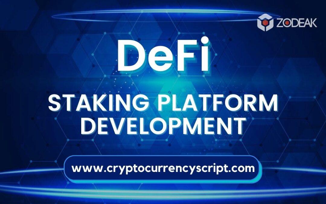 DeFi Staking Platform Development